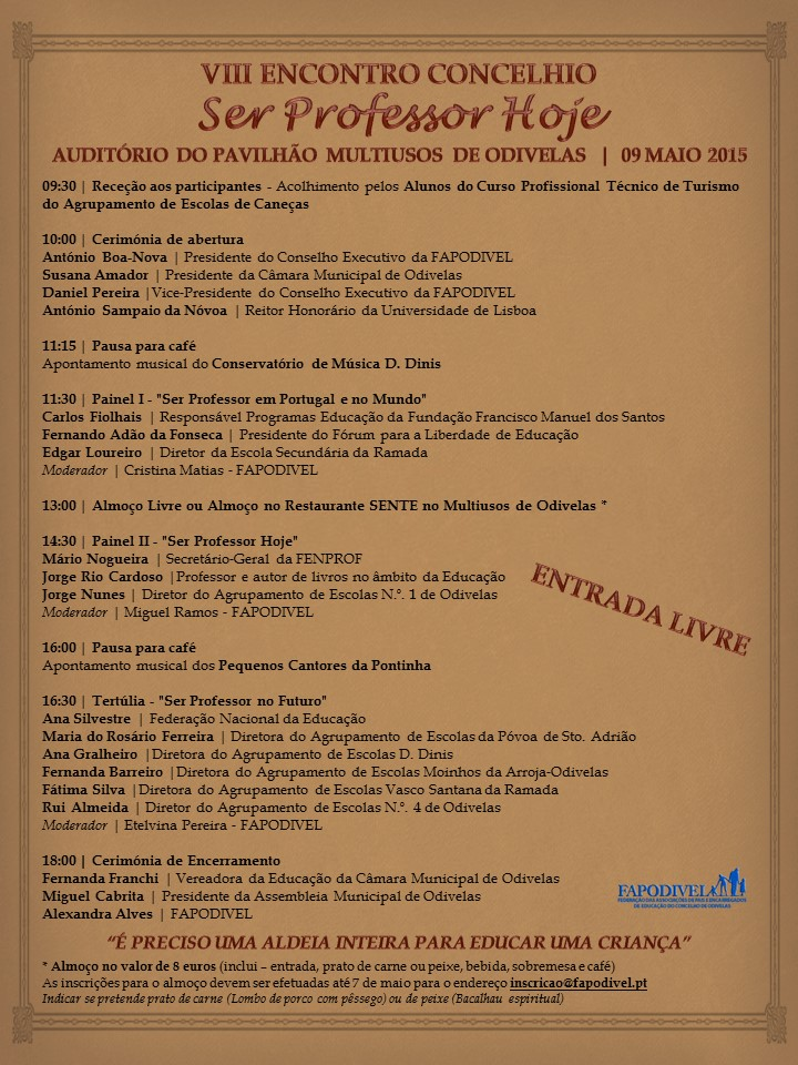 Programa - VIII Encontro Concelhio FAPODIVEL