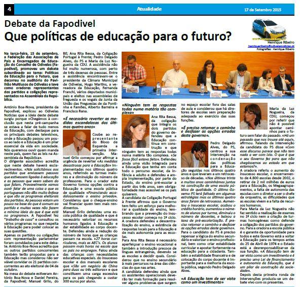 noticia debate politicas de educação para o futuro