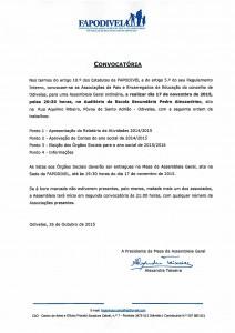 Convocatoria AG FAPODIVEL 2015-11-17